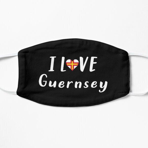 I love Guernsey - Gift for Guernsey - Black Mask