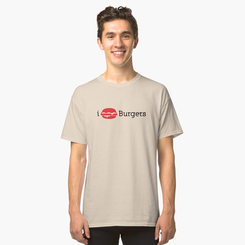 I Heart Burgers Classic T-Shirt Front