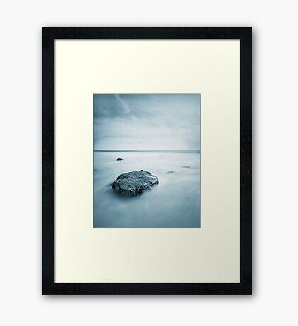 Silky Smooth Sea Framed Print
