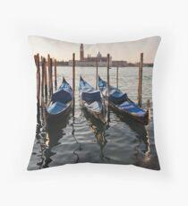 Venetian Winter Morning Throw Pillow