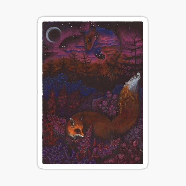 Twilight Fox Sticker