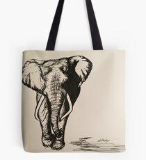 Freehand Sketch - Majestic Elephant Tote Bag