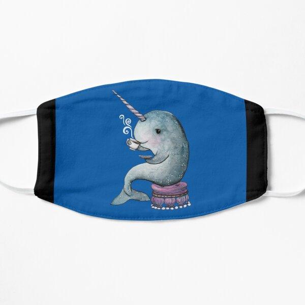 Narwhal Teatime on Blue Mask