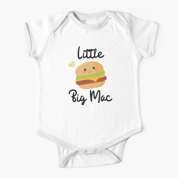 Funny Little Big Mac Short Sleeve Baby One-Piece