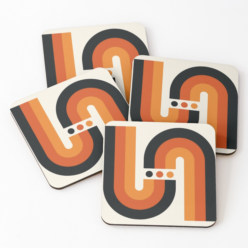 Sunset Rainbow Coasters (Set of 4)