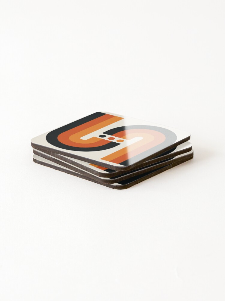 Alternate view of Sunset Rainbow Coasters (Set of 4)