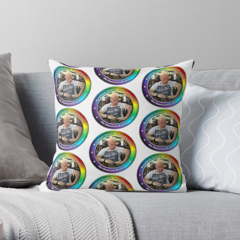 Rainbow John's Camp Classics Throw Pillow