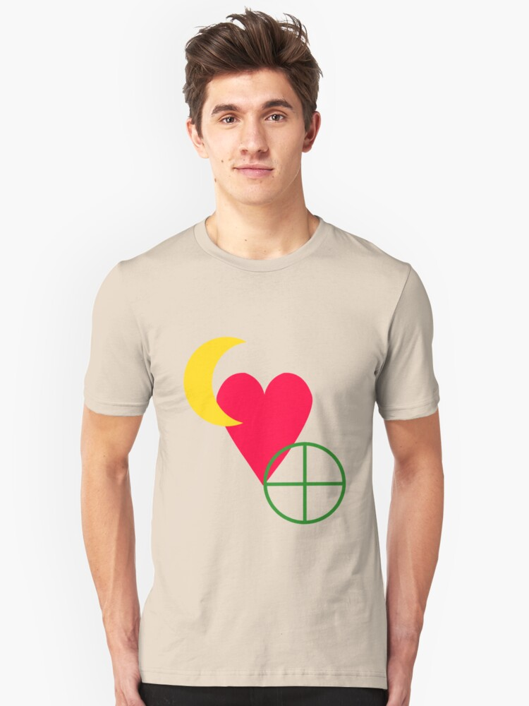 United We Stand: The Earth/Moon Alliance Unisex T-Shirt Front