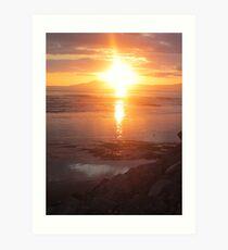 Donegal Sunset, Spiritual Fire, July 2012 Art Print