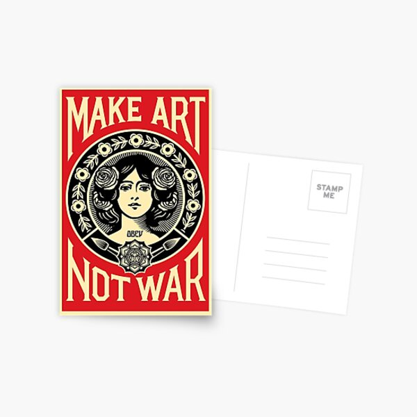 Make Art Not War Postcard