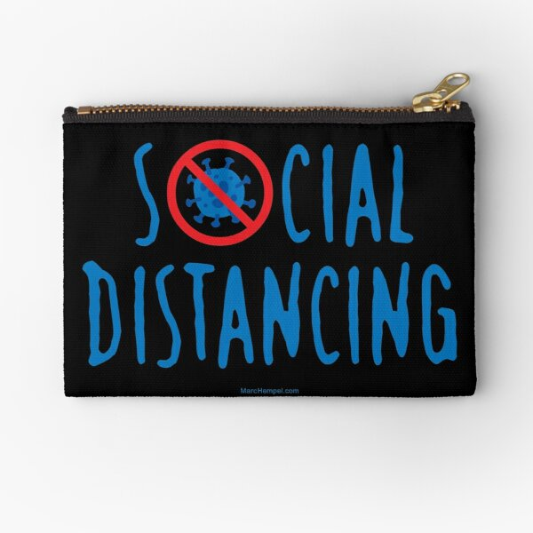 Social Distancing – COVID Cross-Out Zipper Pouch