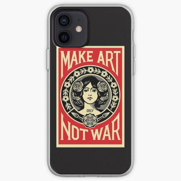 Make Art Not War iPhone Soft Case