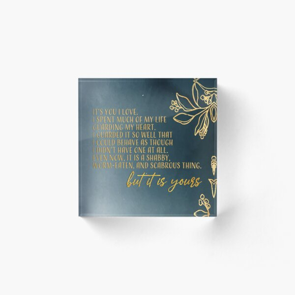 cardan it is yours quote Acrylic Block
