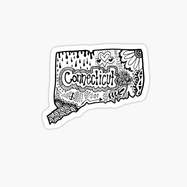 Connecticut State Zentangle Sticker