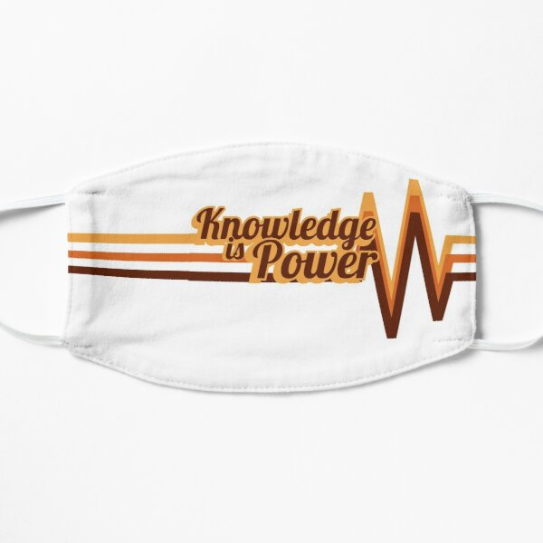 Knowledge is Power - retro font design Mask