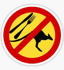 Don't eat Kangaroos (yellow) Sticker