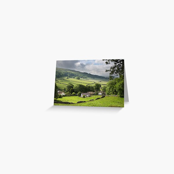 Kettlewell With Wharfdale Beyond Greeting Card