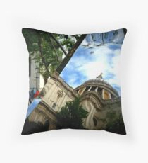 Reflecting St Pauls Throw Pillow