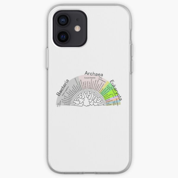Phylogenetic Evolutionary Tree: Bacteria, Archaeva, Eukaryota iPhone Soft Case