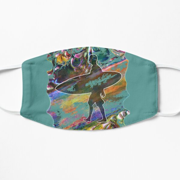 SURF IS UP COLOURFUL SURFER SILHOUETTE Mask