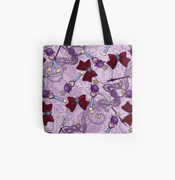 Saturn Planet Power - Scatter Print All Over Print Tote Bag