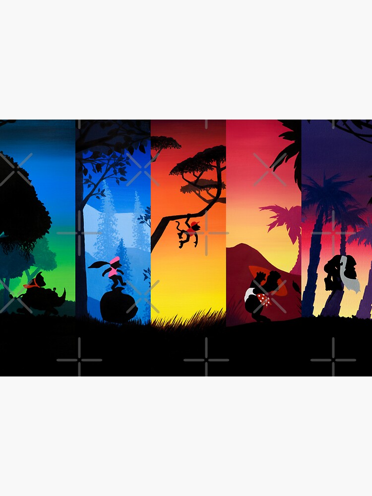 Pentaptych Silhouettes by MalMakes