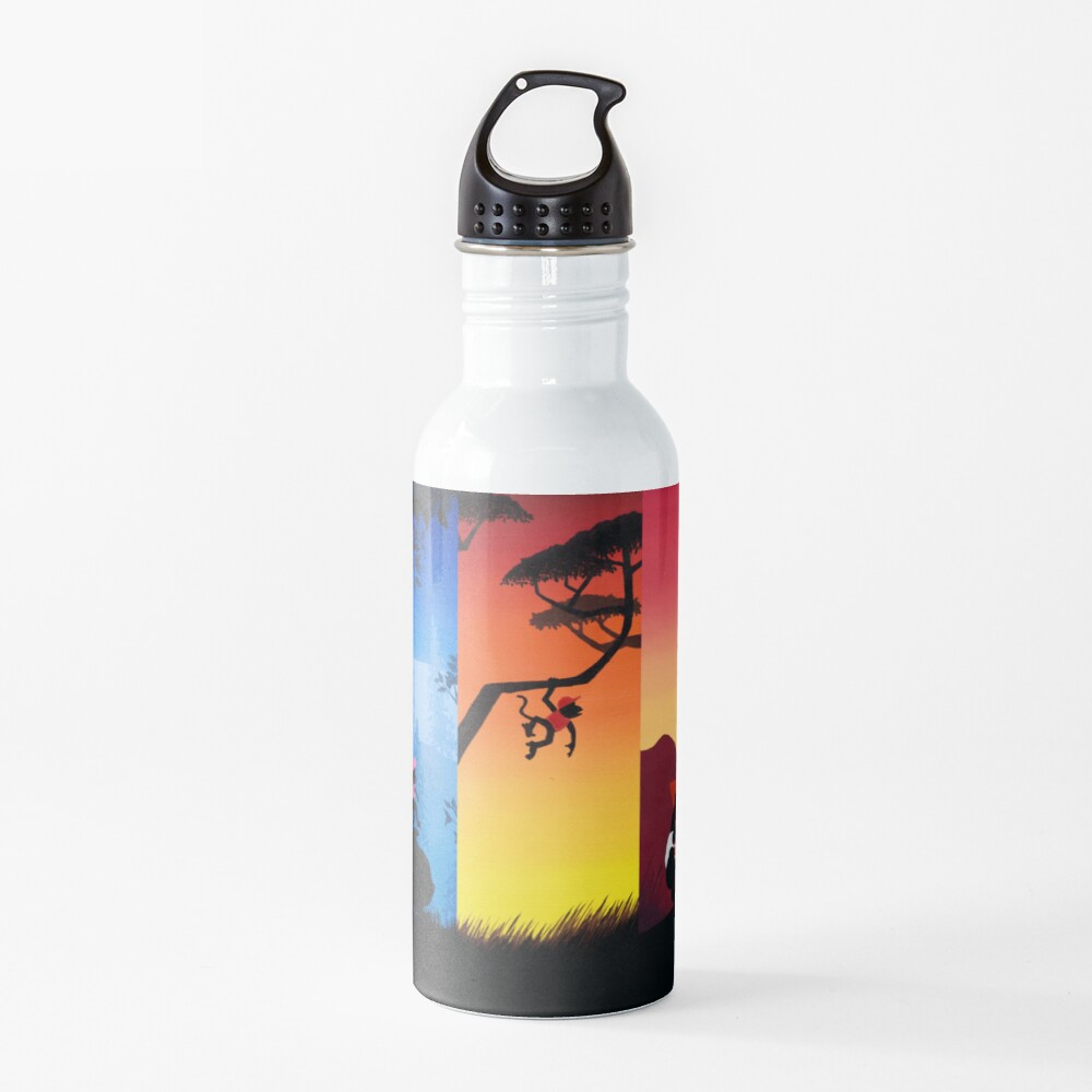 Pentaptych Silhouettes Water Bottle