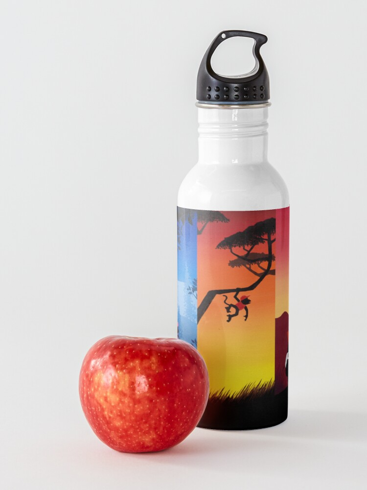 Alternate view of Pentaptych Silhouettes Water Bottle