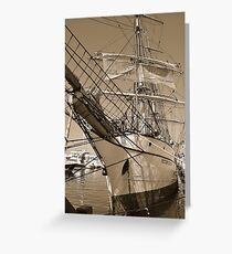 Barque Picton Castle Greeting Card