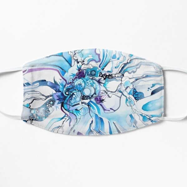 Sub-Atomic Stress Release Therapy - Watercolor Painting Flat Mask