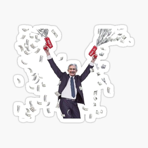 Jerome Powell Money Printer Sticker