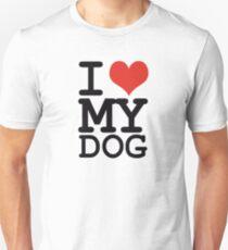 I love my dog Slim Fit T-Shirt