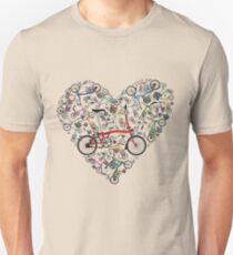 I Love Brompton Bikes Unisex T-Shirt