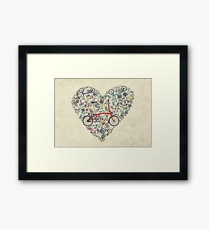 I Love Brompton Bikes Framed Print