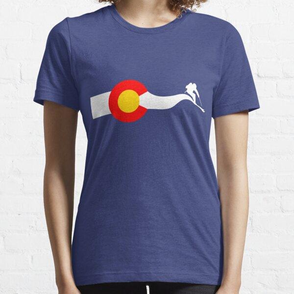 Ski Colorado Flag Essential T-Shirt