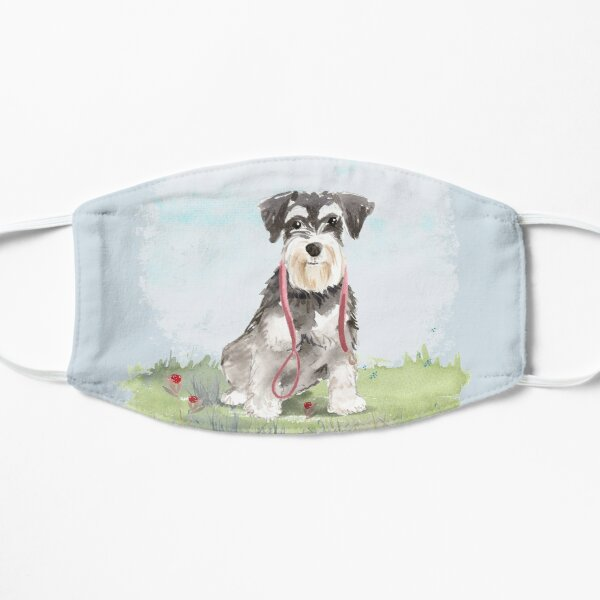 A Pooch For You - Miniature Schnauzer Flat Mask