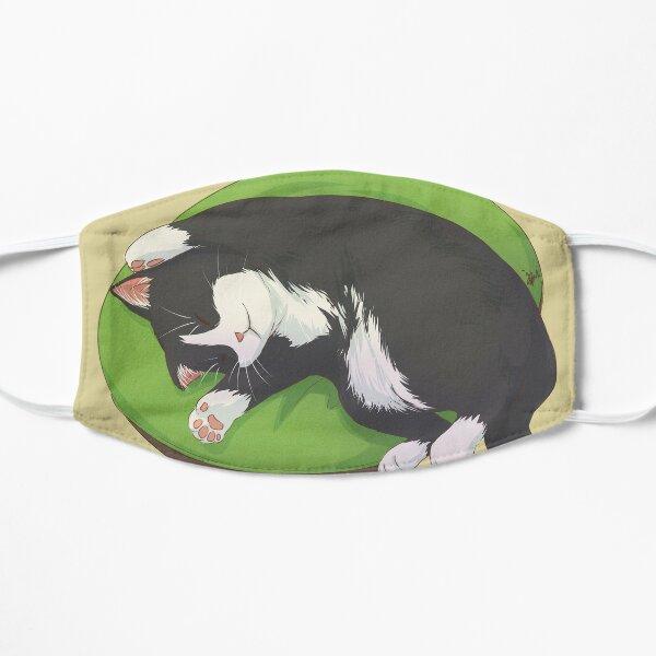 Sleeping Cat Tuxedo Black and White Small Mask
