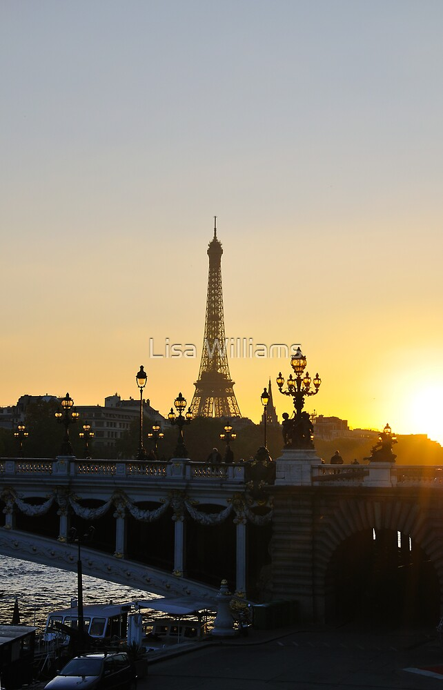 Dusk Falls On Paris by Lisa Williams