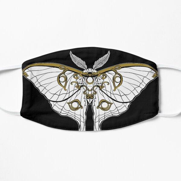 art nouveau luna moth Flat Mask