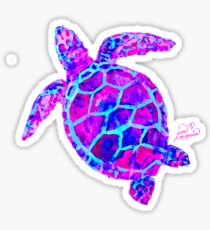 Sea Turtle Pink and Blue Sticker