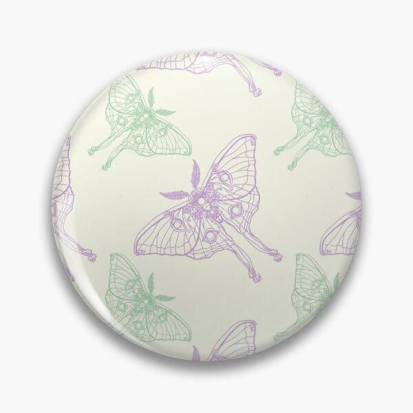 Art Nouveau Moth pastel pattern Pin
