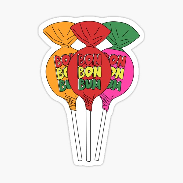 Bon Bon Bum Colombia candy Sticker