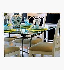 Table & Chairs   ^ Photographic Print