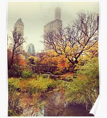 Fall into Central Park Poster
