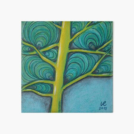 Intermediate tree in yellow-blue Art Board Print