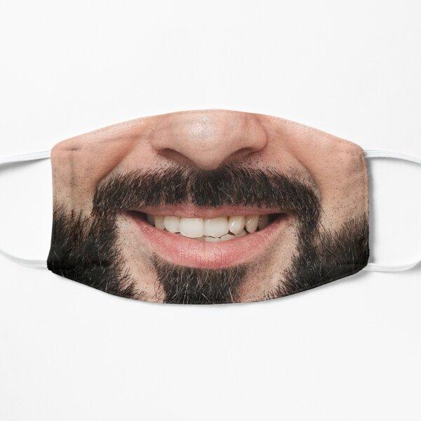 funny mask smiling beard male mask Flat Mask