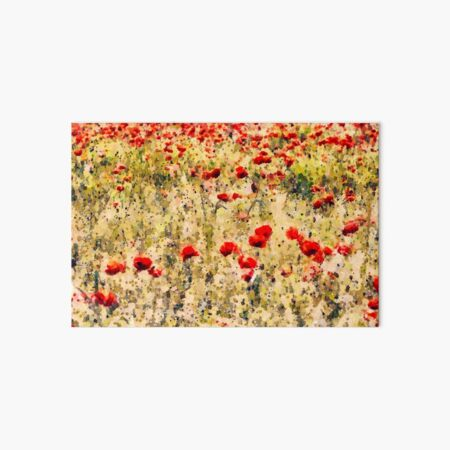 Where the Poppies grow Art Board Print