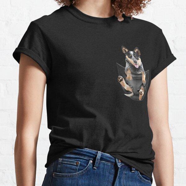 Blue Heeler In Pocket Puppy T Classic T-Shirt