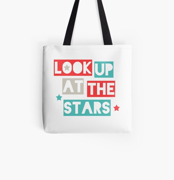 Look Up At The Stars All Over Print Tote Bag