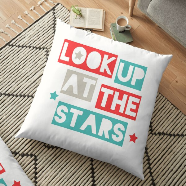 Look Up At The Stars Floor Pillow